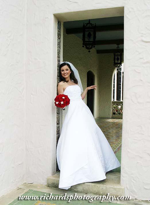 Bridal Photography Stylish Dress Red Bouquet