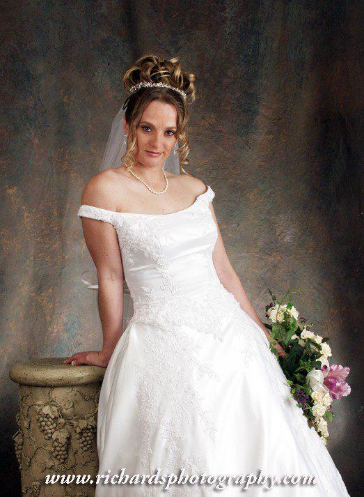 Bridal Portrait Studio Photography in Wedding Dress