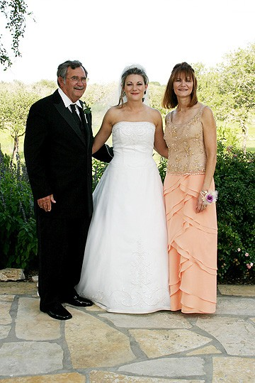 Bride formal with parents