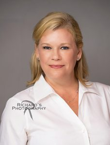 nursing headshot white blouse blonde hair san antonio