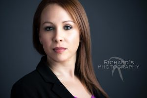 woman dark suite headshot photography san antonio