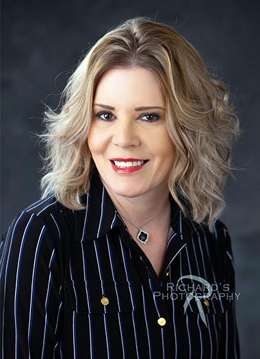 real estate branding image of woman blonde hair San Antonio
