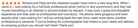 reviews from richard's photography