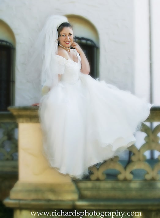 Bridal Portrait Smiling to The Camera Looks Happy