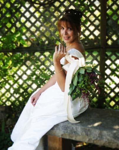 bridal portrait photography bouquet over shoulder san antonio photographer