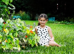 childrens portraits san antonio texas young girl in flowers