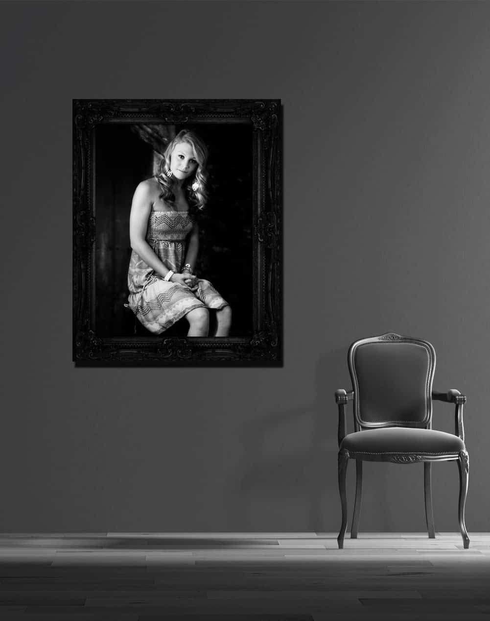 black and white senior portrait san antonio tx photographer