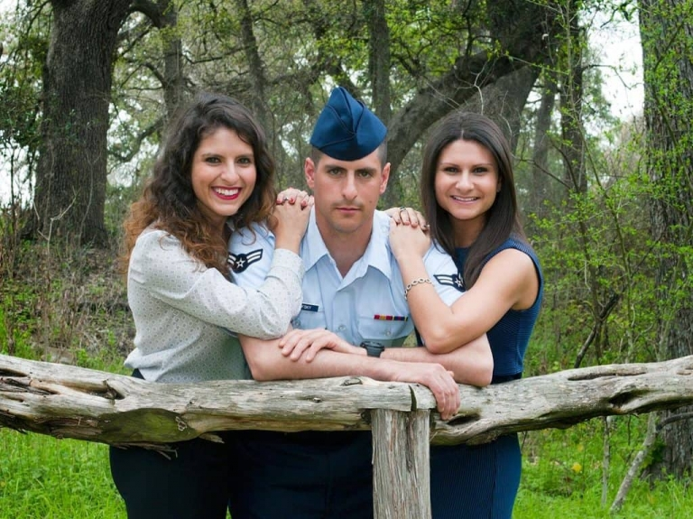 Family Portraits Photographer Siblings Military Uniform Outdoors San Antonio