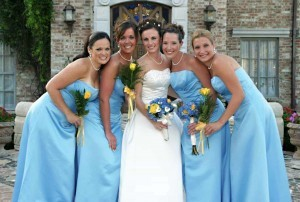 Photo of Bride and Bridesmaids at Wedding in San Antonio Texas