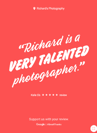 richard's photography google review
