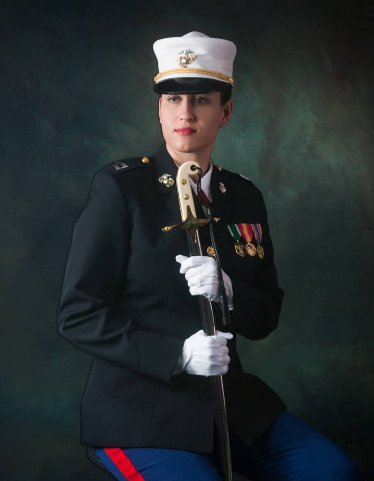 Military Portrait in Uniform Taken in Photography Studio San Antonio Texas