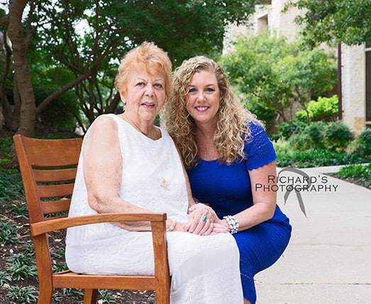 Mother and daughter family portrait san antonio jw marriott