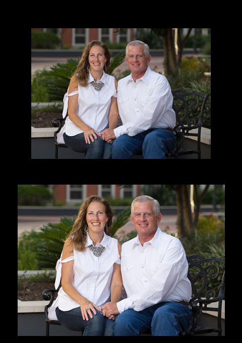 photo retouchning retouched couple portrait