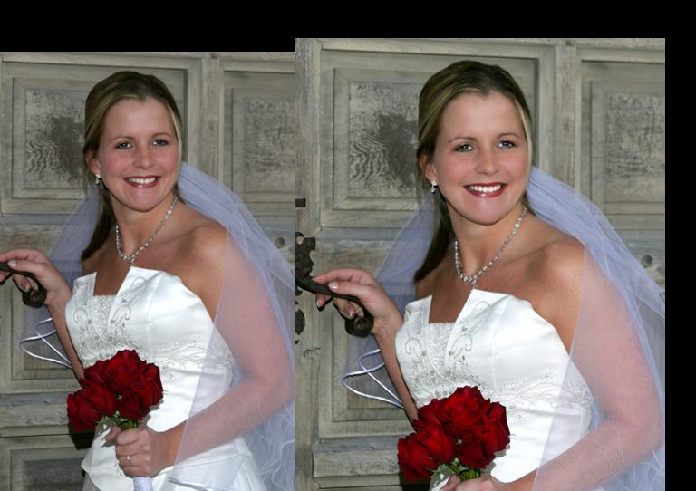 retouched bridal portrait