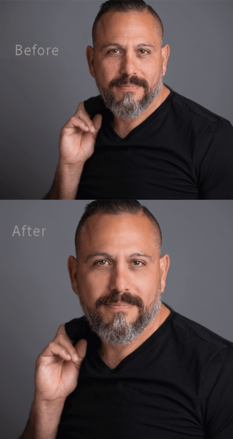 Photo Retouching Before and After San Antonio Texas