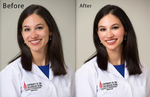 retouching for medical student in San Antonio UIW