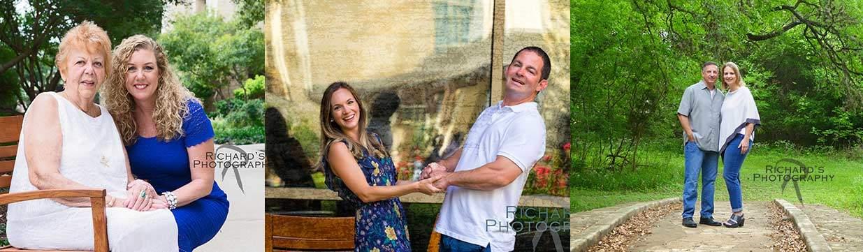 family photos at local hotel