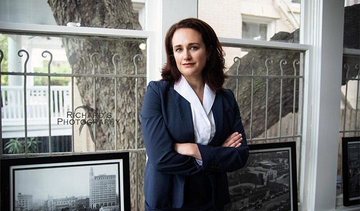 professional headshot woman lawyer downtown san antonio texas