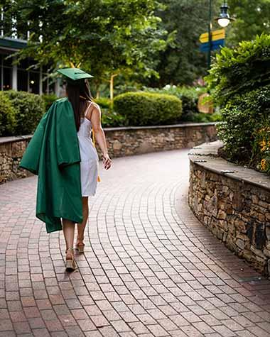 cap and gown graduation portrait downtown san antonio