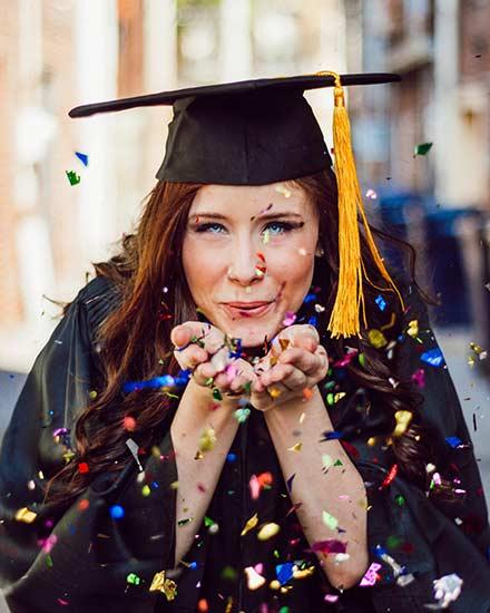graduation portraits san antonio cap and gown long yellow tassel
