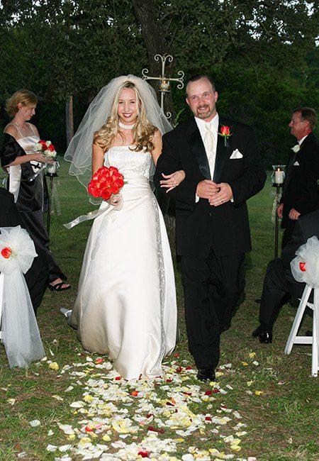 walking down the aisle wedding san antonio