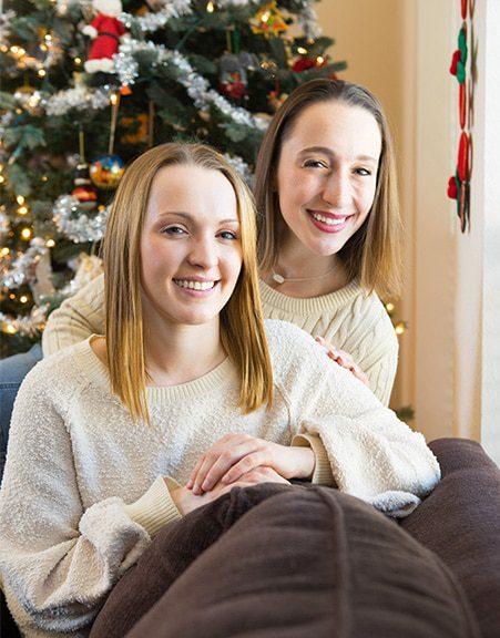 christmas portraits sisters san antonio
