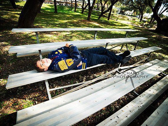 senior pictures boy outdoors san antonio