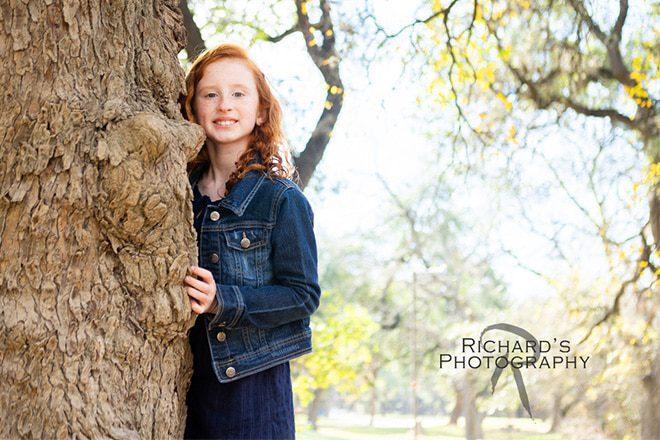 kids portraits san antonio texas outdoors girl natural light