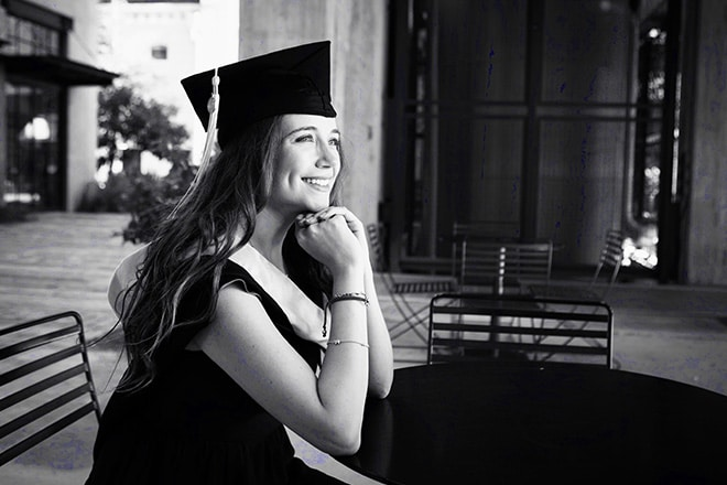 black and white graduation pictures pearl brewery san antonio
