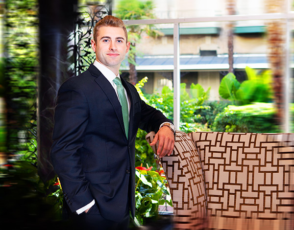 business portrait of lawyer at menger hotel san antonio
