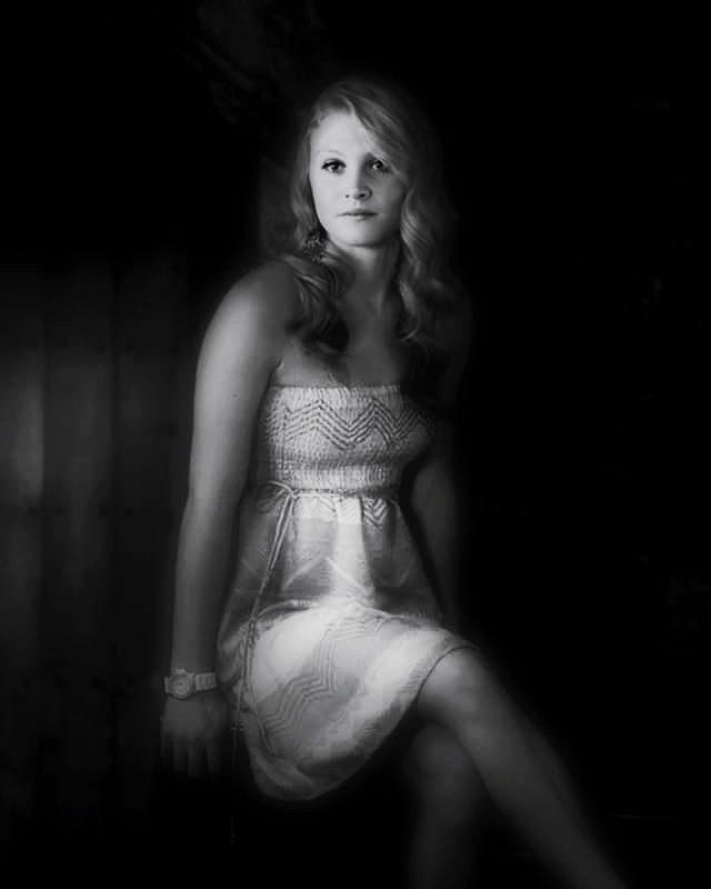 dramatic senior photo girl sa