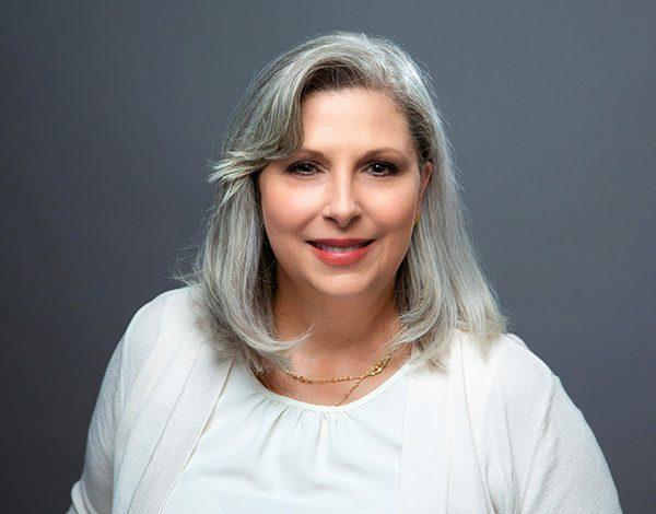 women's headshot gray background san antonio