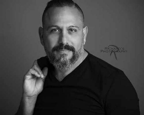 Actor Headshot Photography Black and White For HBO Detective Series Audition