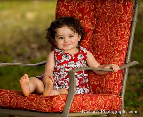 Young Child Photography Sitting in Chair San Antonio Tx