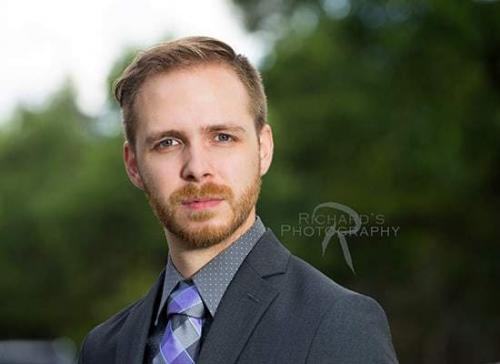 business headshot man suit and tie outdoors san antonio texas 78248