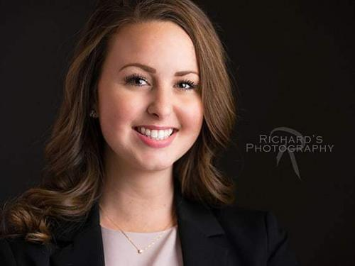 business headshots san antonio woman girl smiling long brown hair