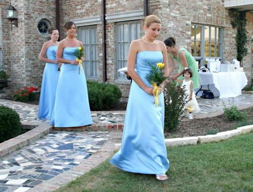 Bridesmaid at San Antonio Wedding by Richard's Photography