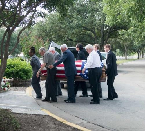 Funeral Photography Fort Sam Cemetery San Antonio Texas