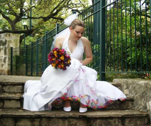 Wedding Dress at San Antonio Riverwalk