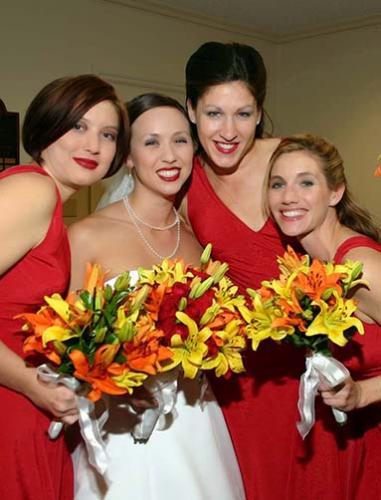 wedding bridesmaids photography
