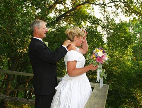 outdoor wedding couple photography