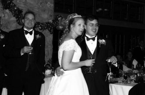 Wedding Black and White Reception Toast