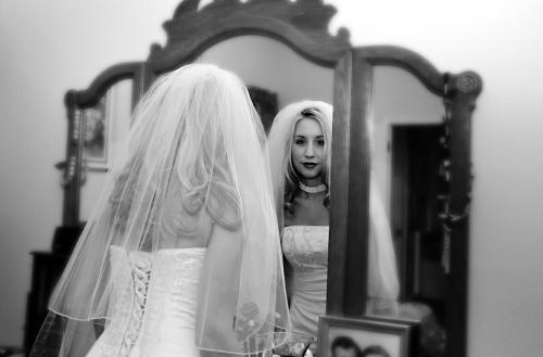 Bride Wedding Black and White Dress San Antonio