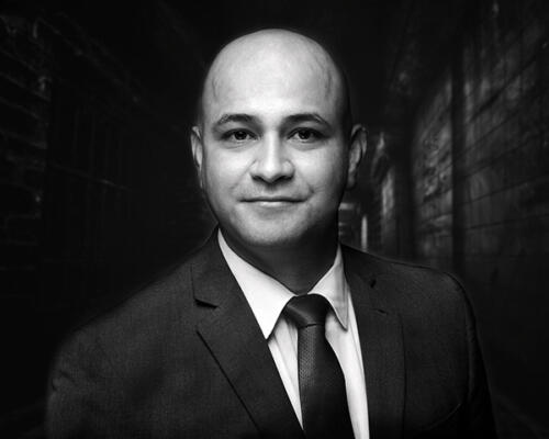 black and white branding portrait business man in suit