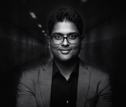 black and white branding portrait man with glasses san antonio