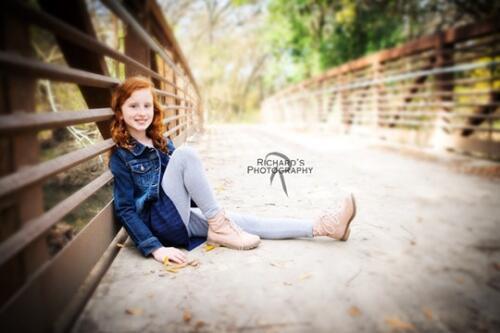 children's portrait girl san antonio texas outdoors