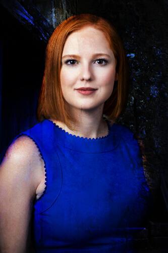 composite portrait woman blue dress san antonio