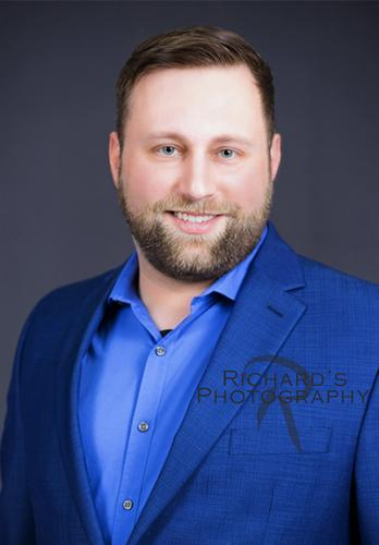 San Antonio Headshot man blue jacket Photography Business Executive