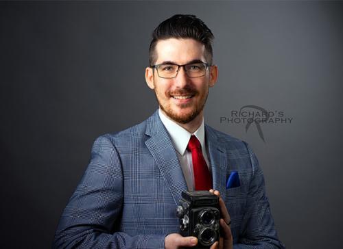 business portrait man with glasses san antonio