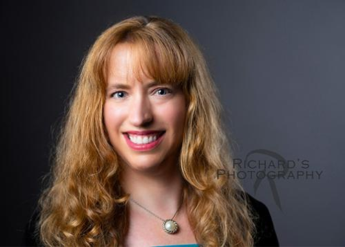 business portrait san antonio woman curly hair
